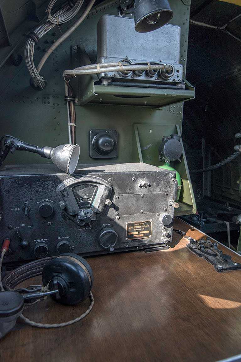 Radio desk B-17 Flying Fortress