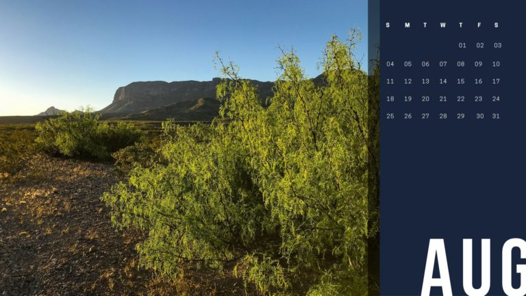 Sunrise on the Chisos Mountains in Big Bend National Park